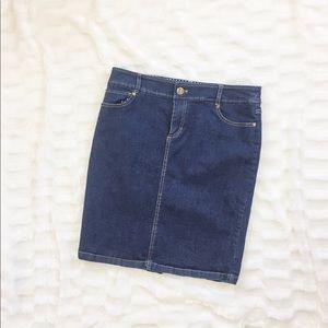 Like new DownEast denim skirt